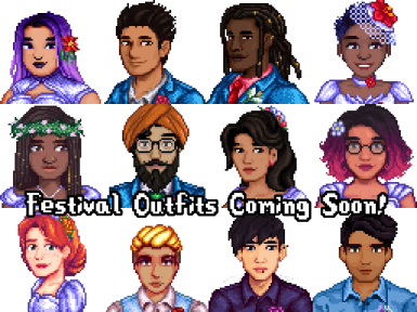 Diverse Stardew Valley with Seasonal Villager Outfits (DSVO)