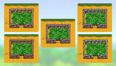 flowery stone fences (content patcher)