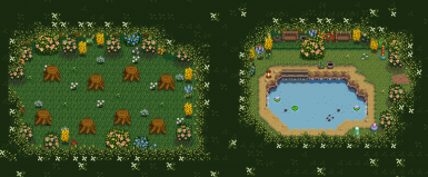 version 2's extra areas -- renewable hardwood and pool for energy regen