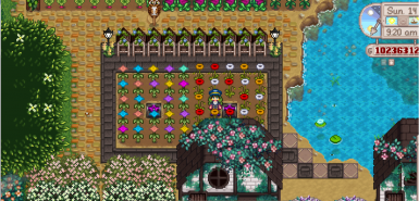 Only the flower stems are affected by the recolor