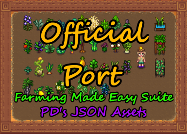 FMES and JSON Assets Crops Official Port