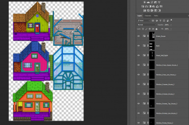 Separated layers for easy custom recoloring - For Gimp and Photoshop