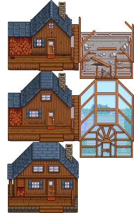 Color retexture of Main House - for direct use and maybe as inspirational groundwork