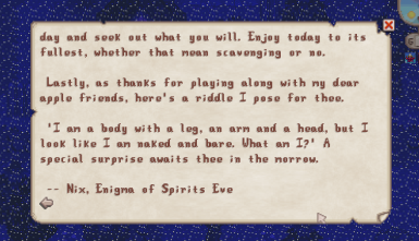 Nix's First Letter