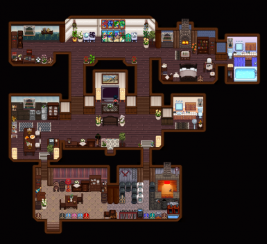 My current house with ATDSV and a lot of custom furniture