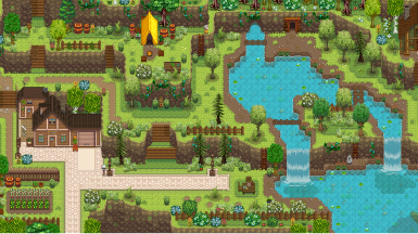 Stardew Foliage Redone - A Nature Toned Map Recolour