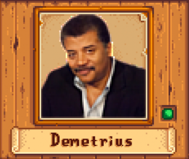 Demetrius as Neil deGrasse Tyson
