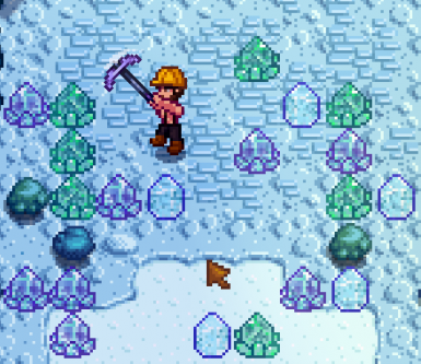 Ice Crystals in the mine