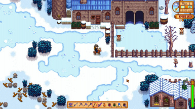 Marnie's Ranch and Leah's Cottage during Winter