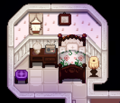 Evelyn Bed when using A Toned Down Stardew Valley