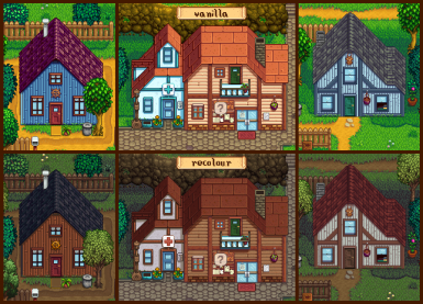 recoloured houses - spring