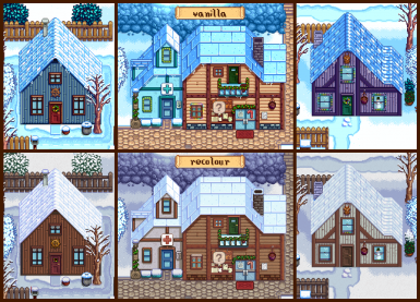 recoloured houses - winter