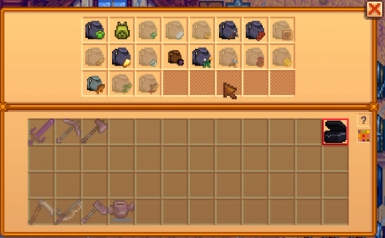 New in version 1.2.3 - The Omni Bag can store other bags inside of it.