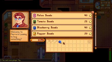Sending money from selling crops to Pierre