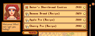 Purchase modded baked goods and recipes