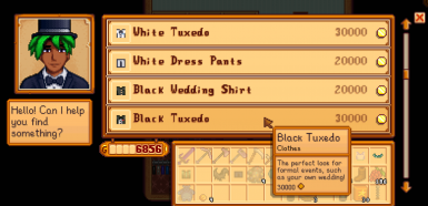 Modded and vanilla wedding clothes available to purchase