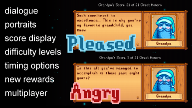 Angry Grandpa offers a fully configurable overhaul of the grandpa evaluation system!
