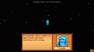 Grandpa has new dialogue options with expressive portraits