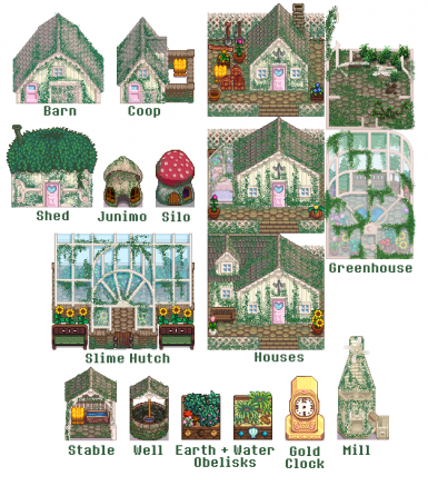 Ali's Enchanted Garden Buildings