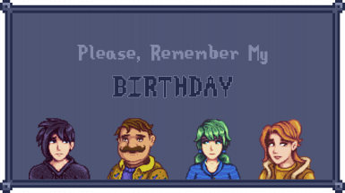 Please Remember My Birthday
