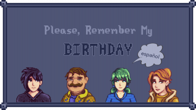 Please Remember My Birthday - Spanish Version