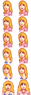 Blonde Penny with Long Hair