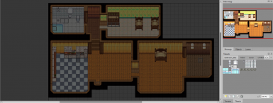 View of the farmhouse map in Tiled