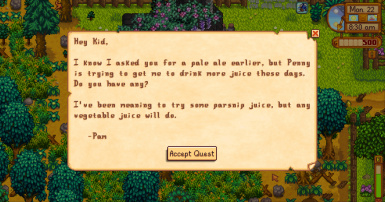 New Quest Letter - if original was seen (Pam version)