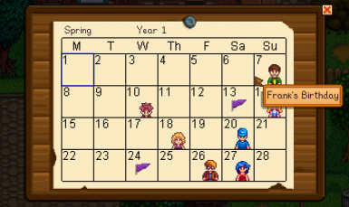 Name Changes Shown On Calendar