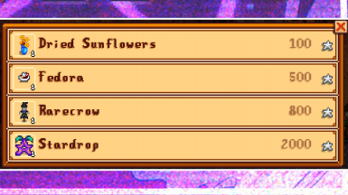 Bought from the Stardew Valley Fair, like usual!!