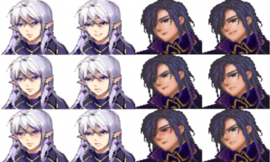Two style of Wizard (Default - Purple Hair)