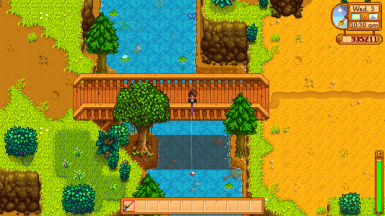 You can even catch fish in the new river ( standard mountain fish)