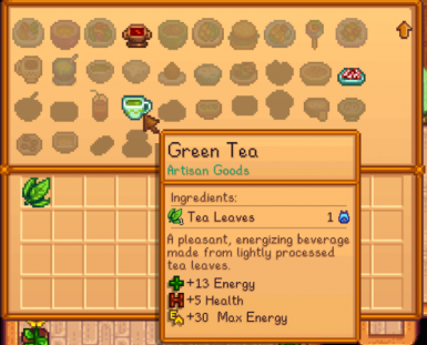 New recipe for Green Tea (v1.1)