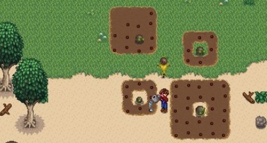 Sprinklers, soil, and crops all work on sand and grass!