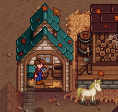 Stand in Stable and Right-click to Reskin Horse
