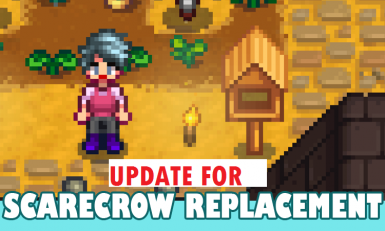 Bird Feeder Scarecrow Replacement (XNB Mod Update for 1.11)