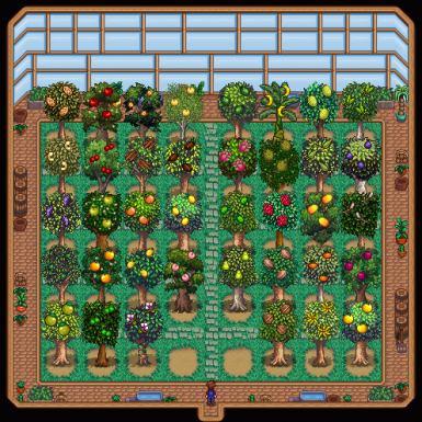 Starblue with one each Fruit Tree from base + PPJA More Trees