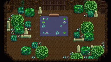 2cute farmcave w zelda-like fairy hotspring and underground library