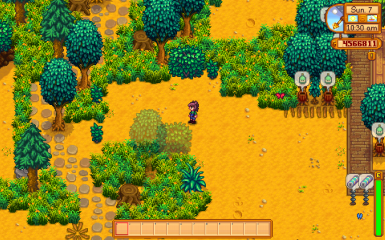 Increase the transparency range and enable it for bushes