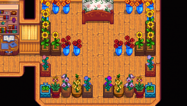 Dried sunflowers and garden pots