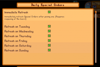 Daily Special Orders