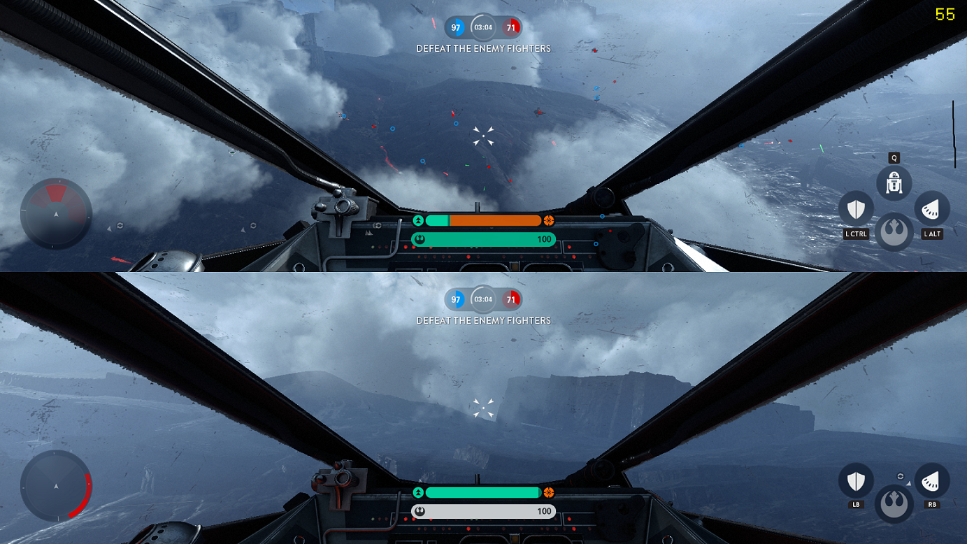 star wars battlefront how to play split screen