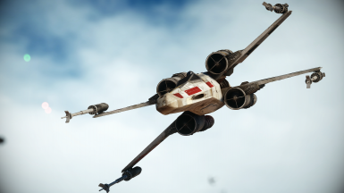 Red 5 and Vader's TIE X-1 In Skirmish