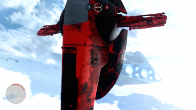 Red and Darker Boba Fett's Slave 1 Retexture