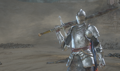 Lothric Knight Armor No Body Clothes and Blue Cape