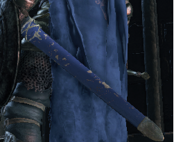 Blue Lothric Sword scabbard and Spear cloth
