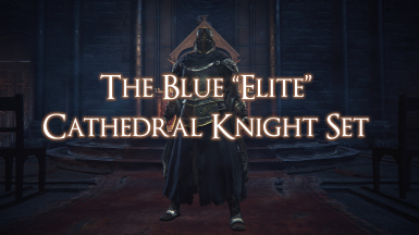 Blue Elite Cathedral Knight Set