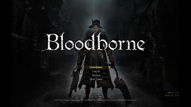 Bloodborne HUD and menus
