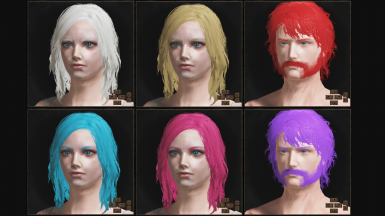 Better Hair Colors and Better Beards for Mod Engine