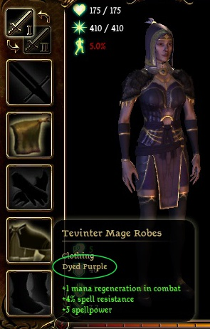 items marked with active dye
